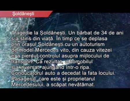 Tragedie la Șoldănești. Un bărbat de 34 de ani a decedat în accident rutier