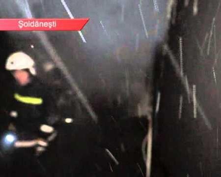 Magazin, incendiat în miez de noapte