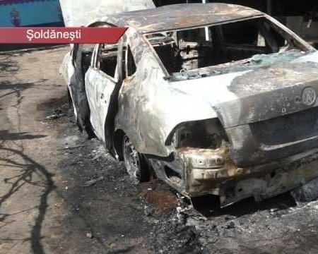 Automobil incendiat a doua zi de Paști
