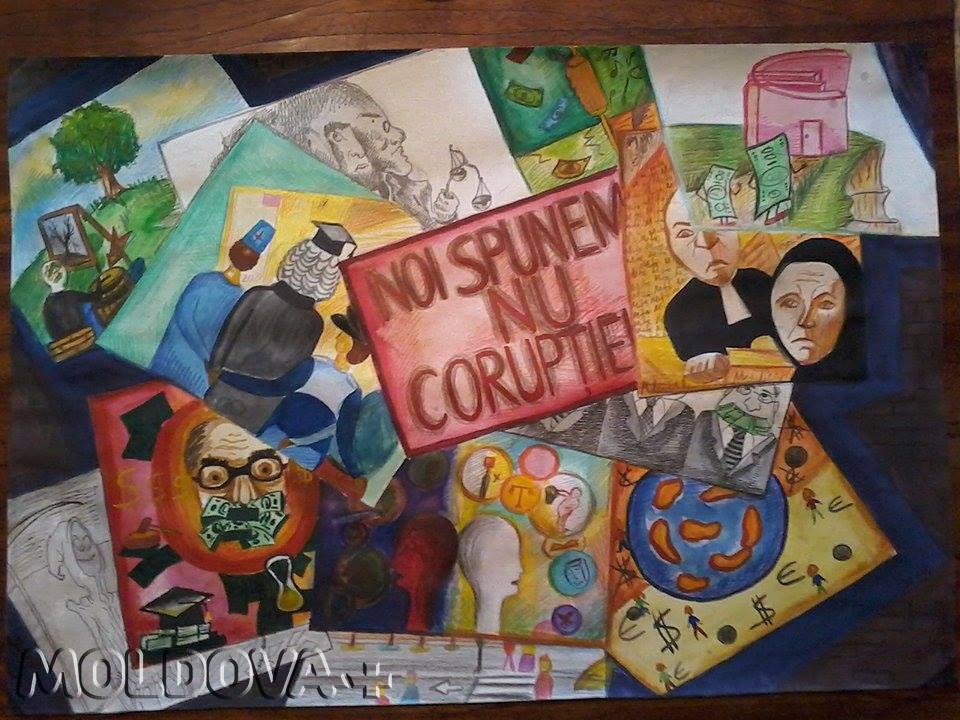 O elevă din Chișinău combate corupția prin desene sociale