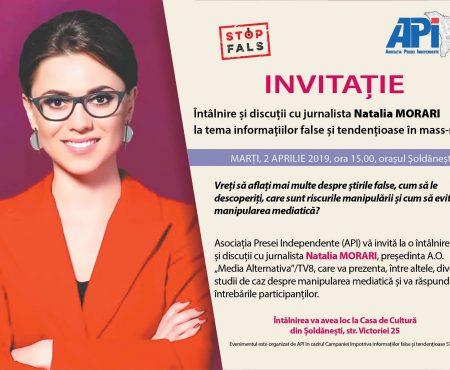 Cum detectăm falsul în presă? Jurnalista Natalia MORARI vine cu sfaturi la Șoldănești