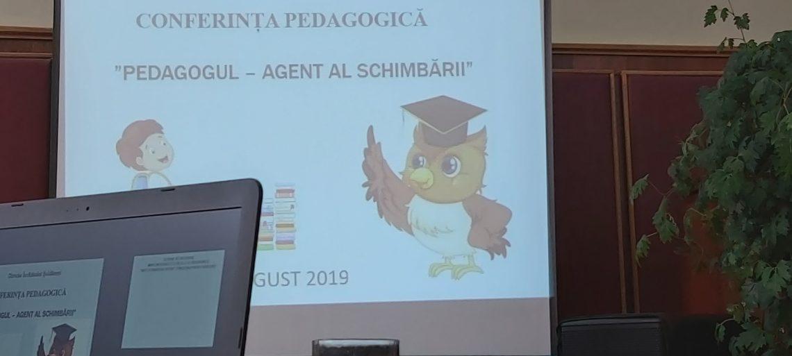 Agenții schimbării, pedagogii, în prag de nou an de studii