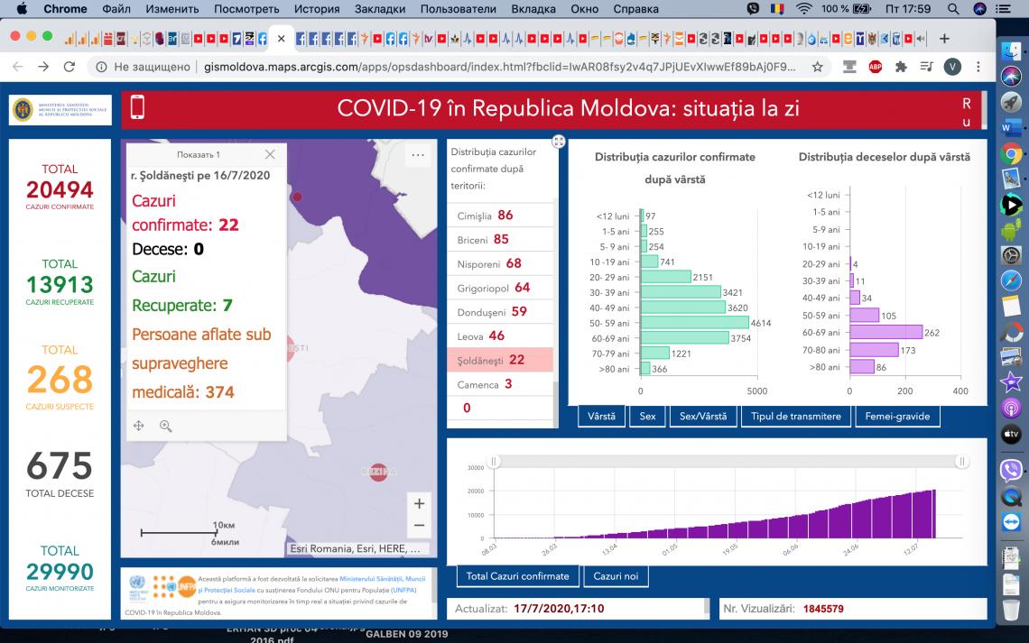 La Șoldănești, numărul cazurilor de COVID 19 confirmate e în creștere
