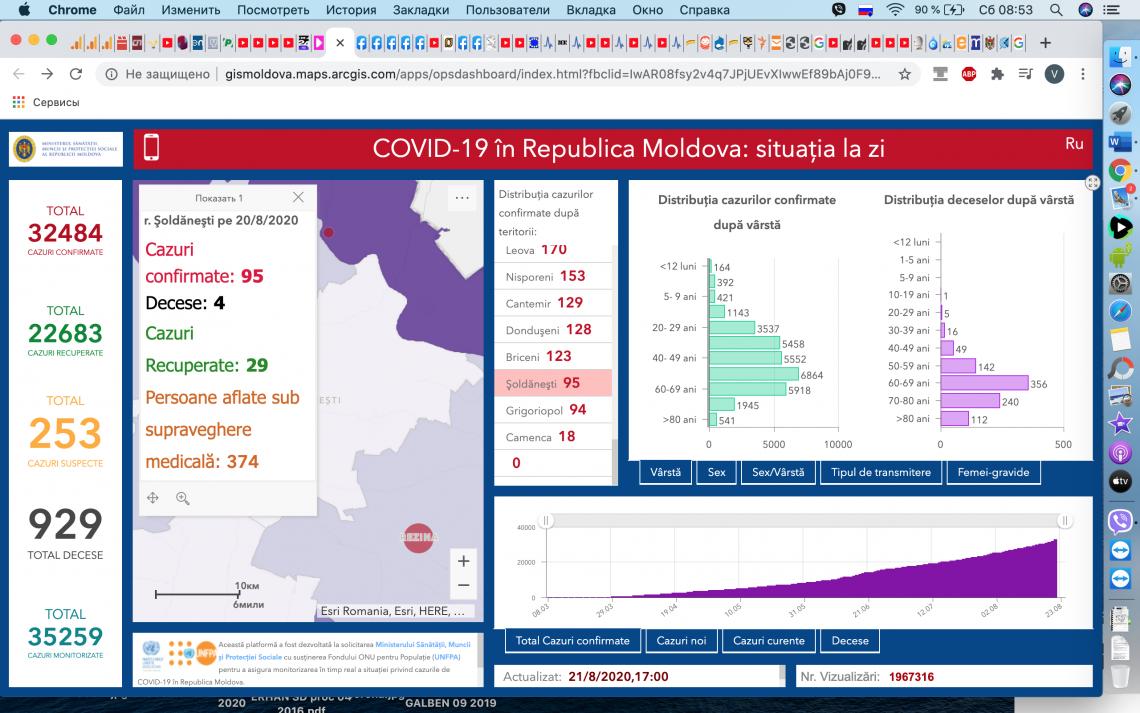 Alte 547 de cazuri au fost confirmate în Moldova